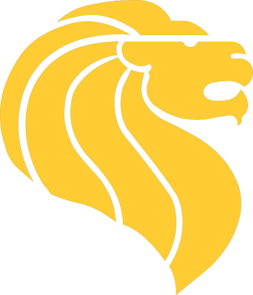 Yellow lion logo - photo#23